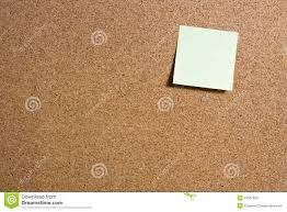 sticky notes on cork board stock image image of office 31567629