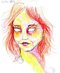 artist used lsd and drew herself for 9 hours to show how it