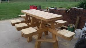 Free Plans For Building A Picnic Table by How To Build The 8 Seat Bar Stool Picnic Table Chapter 1 Youtube