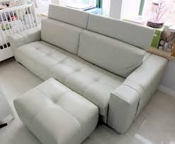 Gamma Leather Sofa by High End Italian 3 Seater Leather Sofa With Ottoman By Gamma