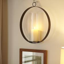 Mirror With Candle Sconces Mirrored Candle Wall Sconce Wayfair