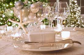 modern concept gold and white christmas table decorations with