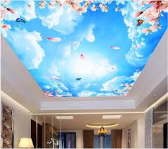 3d Wallpaper Home Decor Wdbh Custom 3d Ceiling Murals Wallpaper Home Decor Painting Sky