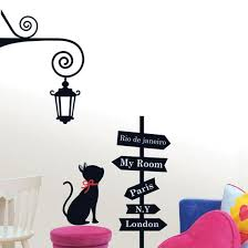 milestone black cat wall stickers wallstickery