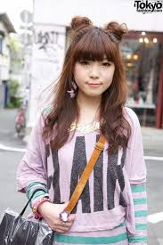 two ear hairstyle this super cute girl is miiba a 19 year old company employee she s