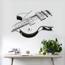 aliexpress com buy electric guitar diy wall stickers hollow out aliexpress com buy electric guitar diy wall stickers hollow out design living room background decor mural decal vinyl adhesive waterproof wallpaper from