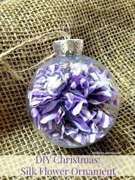 12 days of diy ornaments silk flower ornament