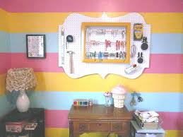cool pegboard craft and sewing room decoration with white pegboard