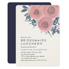 bridesmaid luncheon invitations bridesmaids luncheon invitations announcements zazzle