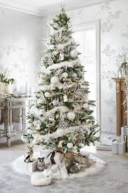 white tree decorations gold home remarkable