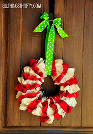 Homemade Christmas Wreaths by Tutorial Diy Christmas Wreath All Things Thrifty