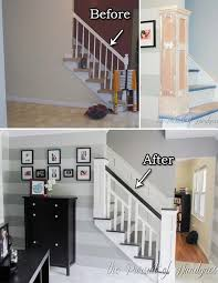 Stair Banisters Railings Best 25 Banister Remodel Ideas On Pinterest Staircase Remodel