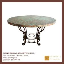 Copper Top Dining Room Tables Articles With Copper Dining Table Legs Tag Impressive Copper