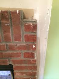 fireplace tile over brick with a problem home improvement
