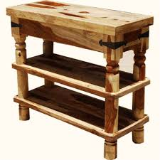 furniture natural wood rustic console table design with 2 large