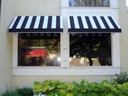 Striped Awning Window And Door Canopies Long Island M U0026 M Awnings