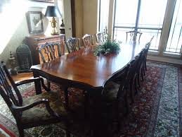 henkel harris all mahogany dining table with side server and ten