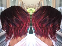 ruby red ombre on short hair all things hair pinterest asian