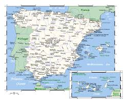 Map Of Spain by Large Map Of Spain With Major Cities Spain Europe Mapsland