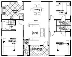 3 bedroom bungalow floor plan pictures 3 bedroom bungalow floor plans free home designs photos