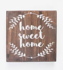 home sweet home hand painted wood sign home decor u0026 lighting