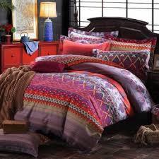 Tribal Pattern Comforter Pink Purple And Rust Orange Chevron Stripe And Paisley Pop
