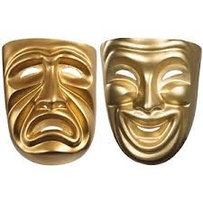 comedy tragedy masks masquerade halloween costume fancy