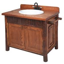 rustic single bathroom vanities and washstands reclaimed