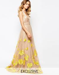 evening maxi dresses image 1 of a is born luxe plunge front tulle prom maxi