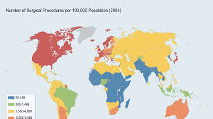 Map Of World Based On Population by Surgery Could Save Millions Of Lives In Developing Countries