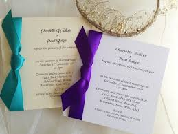wedding invitations with ribbon square wedding invitations with side ribbon