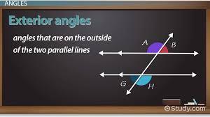 Same Side Interior Angles Definition Geometry Transversal In Geometry Definition U0026 Angles Video U0026 Lesson