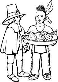 gr 1 thanksgiving worksheet pilgrim and native american kids