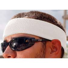 sweat band chill its by ergodyne sweatband white universal terrycloth 6550