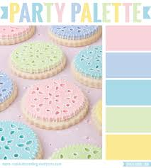 party palette pastel eyelet cookies pastels color inspiration