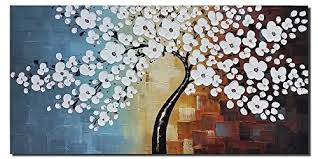 Painting For Home Decoration | amazon com wieco art blooming life extra large modern stretched
