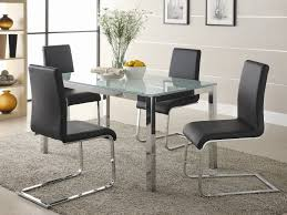 Square Glass Dining Table Shimmering Crackle Glass Dining Table Homedees