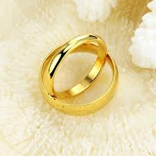 Couple Wedding Rings by Valentines Stainless Steel Plain Couple Wedding Rings Engagement