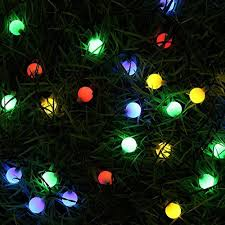 Solar Powered Tree Lights - outdoor string lights gdealer 31ft 50 led waterproof ball lights