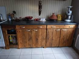 cuisine en palette bois construire sa cuisine en bois galerie avec meuble en palette tutos