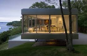 Modern One Story House by Glass House Overlooking The Peconic Bay Clearhouse By Stuart Parr