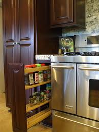 Kitchen Cabinet Interior Organizers by Kitchen Pull Out Spice Rack For Deliver More Goods To You