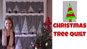 easy christmas tree quilt beginner quilting tutorial with leah