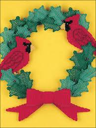 free printable plastic canvas patterns santa and reindeer wreath