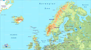 map of europe scandinavia map of northern europe in the atlas world also n with scandinavia
