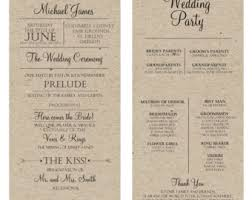 rustic wedding program template rustic diy wedding programs daveyard 9342f3f271f2