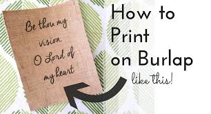 Custom Burlap Art Print Love - how to print on burlap diy tutorial jules co