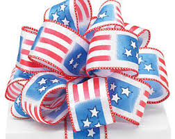 patriotic ribbon patriotic ribbons etsy