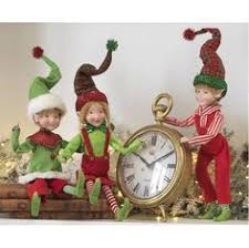 raz elves and green 36in set of 2 elves