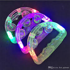 led light up toys wholesale led flashing tambourine light sway bell child party favors bar